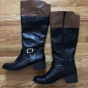 Knee High Two-tone tall riding boots